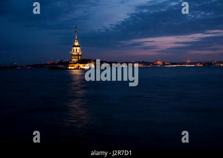 Maiden's Tower in Istanbul, Turkey - Stock Image
