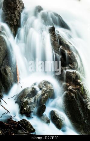 Giessbach waterfall closeup, Brienz, Switzerland - Stock Image