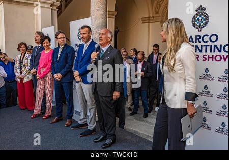 Piedmont Turin - Turin auto show 2019  - Valentino park - Valentino castle - Presidente Aci - Angelo Sticchi Damiani - Stock Image