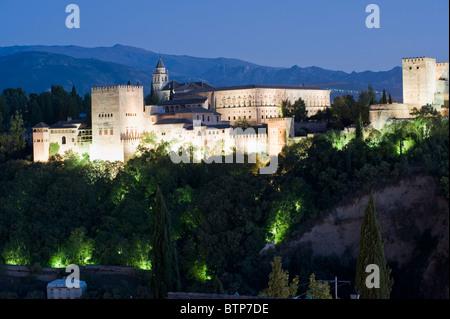 Alhambra Palace, Granada, Andalucia, Spain - Stock Image