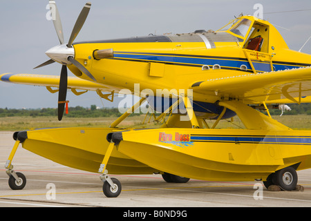 Air Tractor AT 802 A 'Fire Boss' with floats, Zemunik AFB, May 17, 2008 - Stock Image