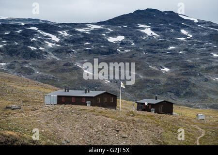 STF Tjäkjta mountain hut, Kungsleden Trail, Lapland, Sweden - Stock Image