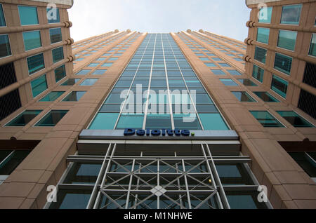 A tall skyscraper features in downtown Sacramento. - Stock Image