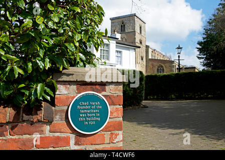 The vicarage, the birthplace of Chad Varah, found of Samaritans, Barton upon Humber, North Lincolnshire, England UK - Stock Image