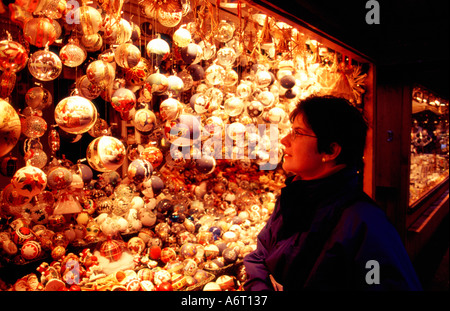 Stall at a Christmas market Vienna Austria - Stock Image