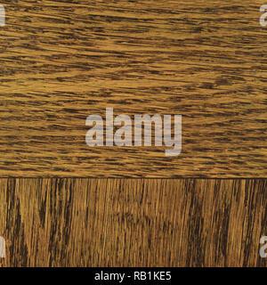 Oak grain veneer texture background, dark black brown natural horizontal scratched textured pattern, large detailed rugged wood macro closeup old aged - Stock Image