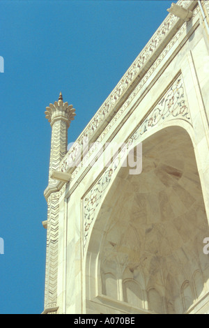 Taj Mahal Detail, Agra, Rajasthan, India - Stock Image