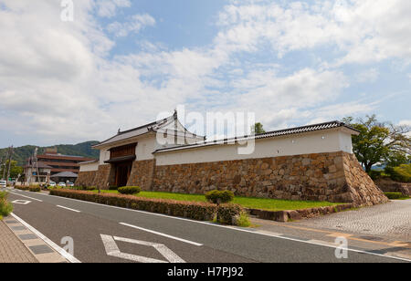 Reconstructed in 1997 Main Gate of Tanabe castle, Japan - Stock Image