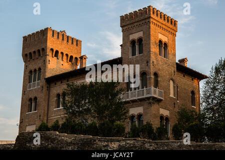 Historical, beautiful castle in the city of Treviso (Italy) - Castello di Treviso - Stock Image