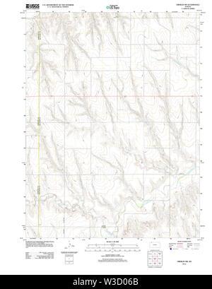 USGS TOPO Map Kansas KS Oberlin SW 20120905 TM Restoration - Stock Image