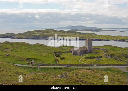 Rodal church on the isle of Harris, Outer Hebrides, Scotland. - Stock Image