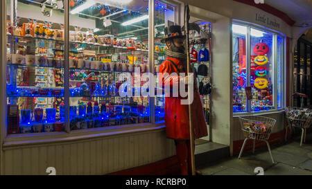 Little London Souvenie Shop Canterbury Kent - Stock Image