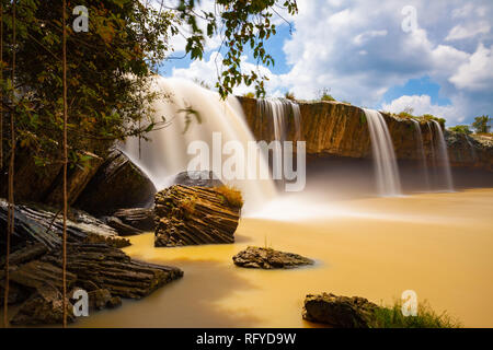 Scenic view of the Dray Nur waterfalls located in Dak Lak Province, Vietnam - Stock Image
