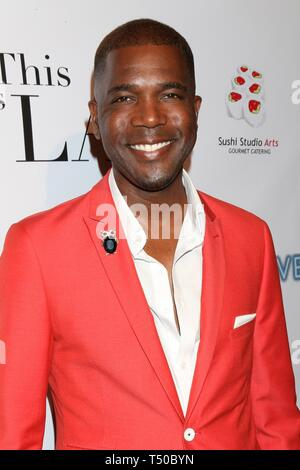 Los Angeles, CA, USA. 18th Apr, 2019. Derrial Christon at arrivals for THIS IS L.A. Premiere Party, Yamashiro Hollywood, Los Angeles, CA April 18, 2019. Credit: Priscilla Grant/Everett Collection/Alamy Live News - Stock Image