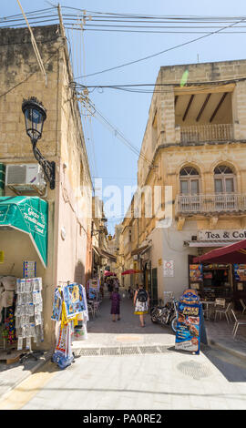 Rabat city in Gozo Island - Malta - Stock Image