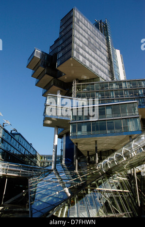 Germany, Hannover, Nord-LB house, glass front, greenhouse, modern architecture, Nord-LB Haus - Stock Image