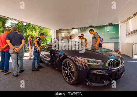 Turin, Piedmont, Italy. 22nd June 2019. Italy Piedmont Turin Valentino park Auto Show 2019 - BMW The 8 Credit: Realy Easy Star/Alamy Live News Credit: Realy Easy Star/Alamy Live News - Stock Image
