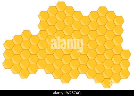 beehive honeycomb bee breakfast food   honey  natural illustration - Stock Image