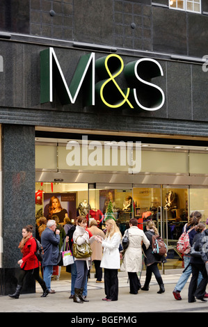 Marks & Spencers. Oxford Street. London. UK 2009 - Stock Image