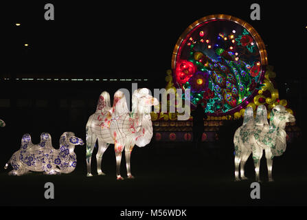 Chinese Light Installation - Stock Image