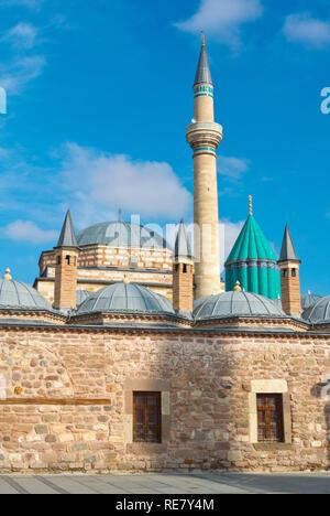 Mevlana Muzesi, Mevlana museum, dervish museum and Rumi mausoleum, Konya, Turkey - Stock Image