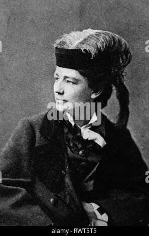 VICTORIA WOODHULL (1838-1927) American womens' suffrage leader about 1880 - Stock Image