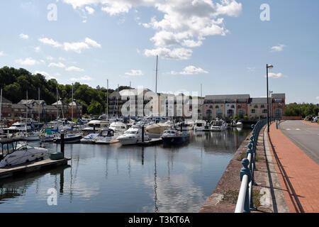 A view of Penarth Marina in Wales UK - Stock Image