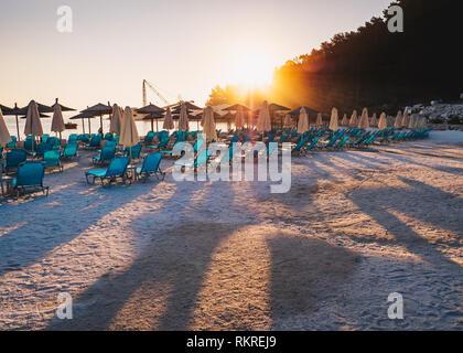 Sunrise at Porto Vathy, Greece - Stock Image