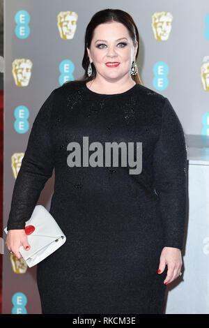 London, UK. 10th Feb, 2019. LONDON, UK. February 10, 2019: Melissa McCarthy arriving for the BAFTA Film Awards 2019 at the Royal Albert Hall, London. Picture: Steve Vas/Featureflash Credit: Paul Smith/Alamy Live News - Stock Image