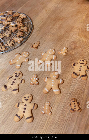 Cooking traditional cakes for christmas - Stock Image