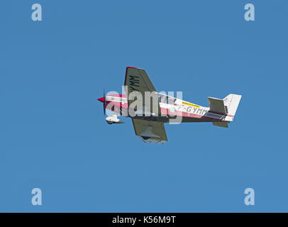 French registered Single engined Robin 400-140B departing Inverness Airport - Stock Image