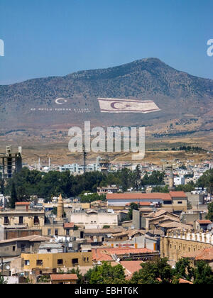 Northern Nicosia (Lefkosia), Cyprus. Since the Turkish invasion in 1974 the city is split in halves. Here you see - Stock Image