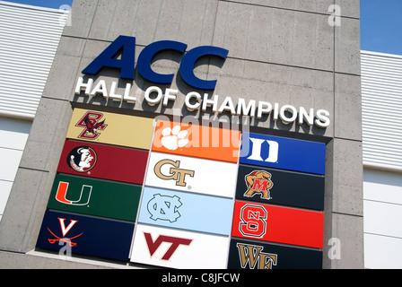 ACC Hall of Champions, Greensboro, NC, North Carolina - Stock Image