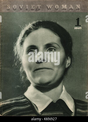 1947 Soviet Woman No. 1 Edition - Stock Image