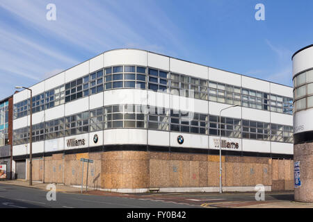 Part of the premises of the former Williams BMW dealership on Bradshawgate on the edge of  Bolton town centre, now - Stock Image