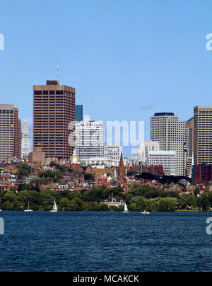 New Towers Over Colonial City - Stock Image