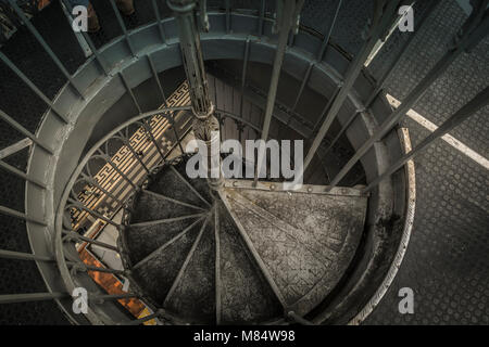LISBON / PORTUGAL - FEBRUARY 17 2018: SPIRAL METAL STAIRCASE - Stock Image