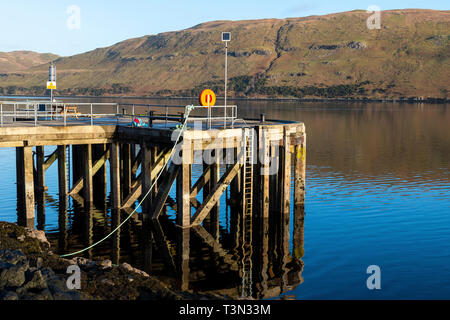 Old pier at Carbost on Loch Harport on Isle of Skye, Highland Region, Scotland, UK - Stock Image
