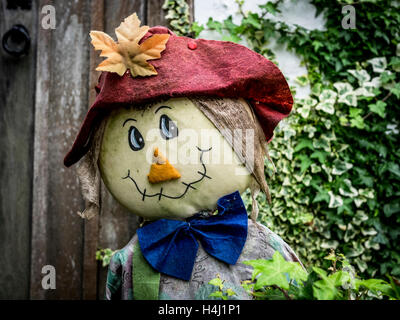 Scarecrow at Chiddingstone Village - Stock Image