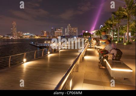 Olympic Walk Marina Bay Singapore Malaysia - Stock Image