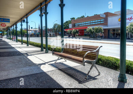 Bridge St,part of the New England Hwy at Muswellbrook Australia. 26 Dec 2018. - Stock Image