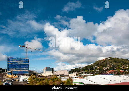 Gosford, New South Wales, Australia - September 4. 2018: Construction site and building progress update panorama 130. on new home units building site  - Stock Image