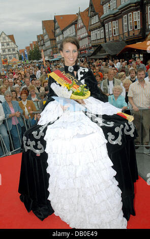 The first 'Miss Baroque' ever chosen in Germany, Alessandra Remitschka, is pictured in Celle, Germany, 11 - Stock Image