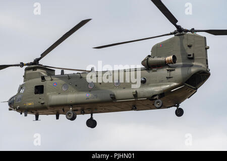 RAF Chinook Helicopter at RIAT 2018, RAF Fairford, UK - Stock Image