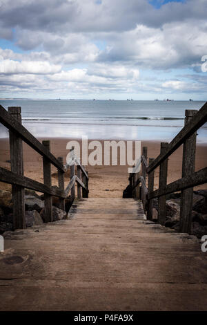 Stairs down to the beach - Stock Image