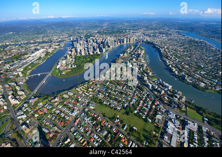 Aerial view of Brisbane, Australia - Stock Image
