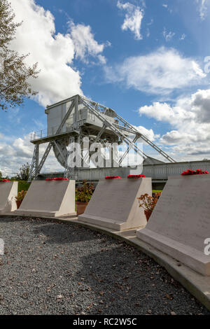 Pegasus Bridge memorial, Overlord Museum, Normandy, France - Stock Image