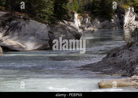 Beautiful mountain river scenic in Kootenay National Park located in British Columbia, Canada - Stock Image