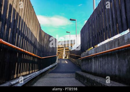 Barnes Bridge railway station Mortlake London UK Photograph taken by Simon Dack - Stock Image