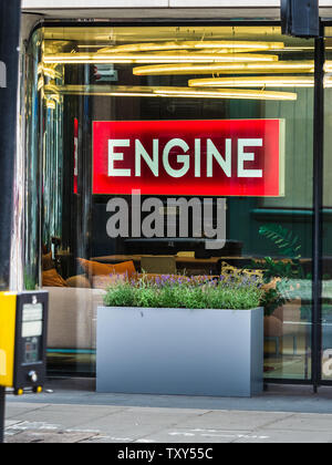 Engine London Office at 60 Great Portland Street London.- integrated marketing communications group, wns ad agency WCRS, PR group MHP Communications - Stock Image